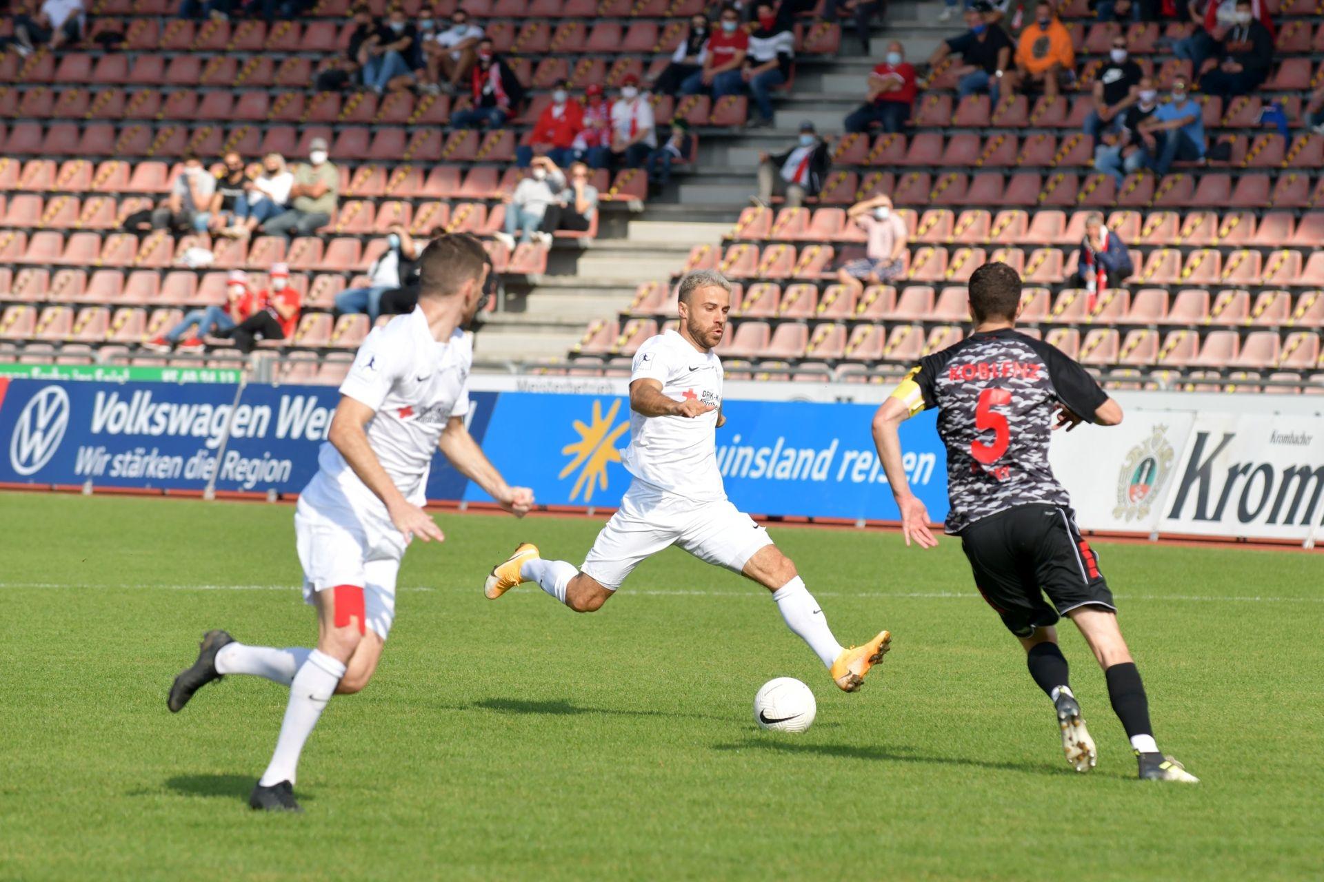 Regionalliga Südwest 2020/21, KSV Hessen Kassel, Rot-Weiss-Koblenz, Endstand 1:1, Alban Meha