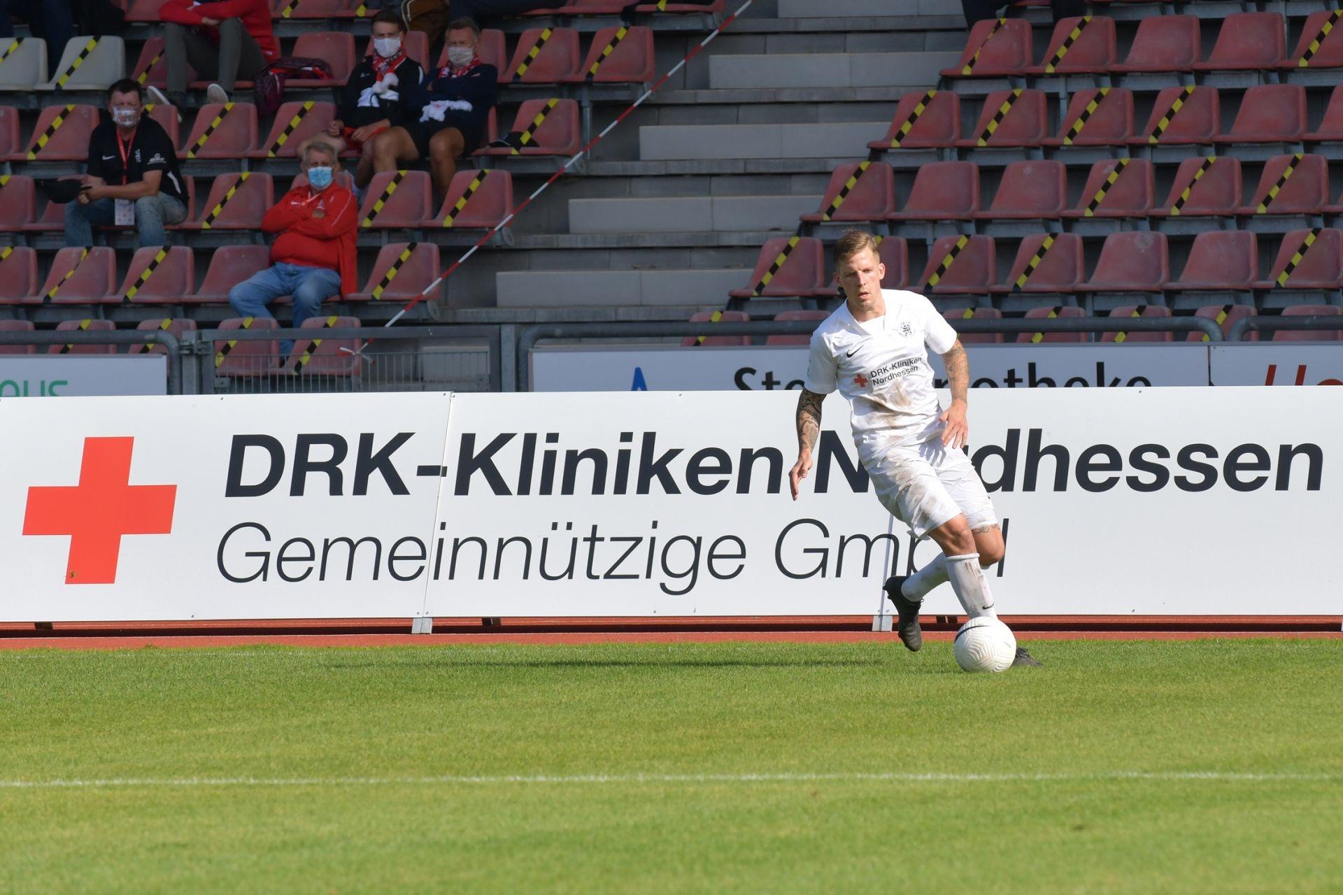 Regionalliga Südwest 2020/21, KSV Hessen Kassel, Rot-Weiss-Koblenz, Endstand 1:1, Tim-Philipp Brandner
