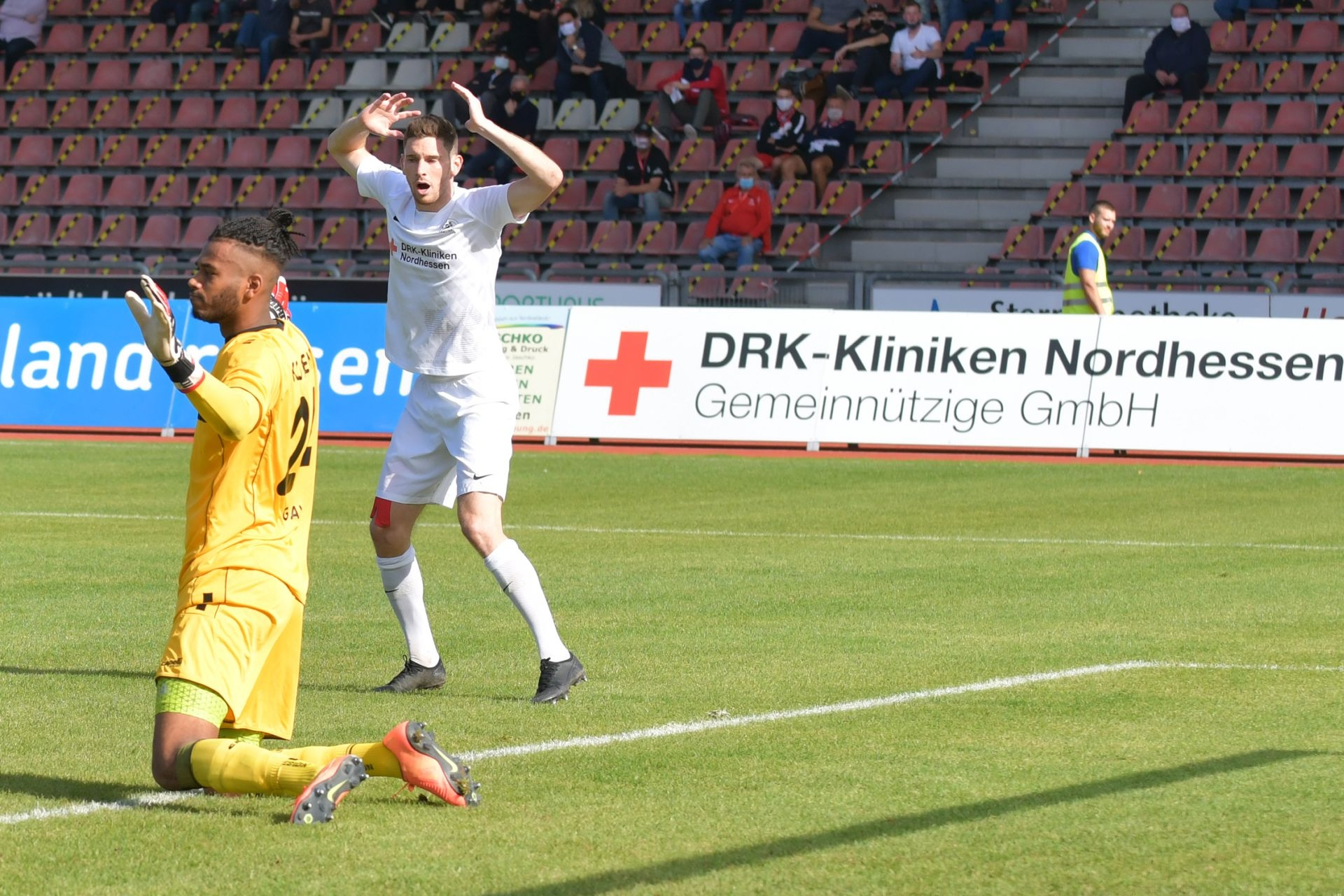 Regionalliga Südwest 2020/21, KSV Hessen Kassel, Rot-Weiss-Koblenz, Endstand 1:1, Iksal