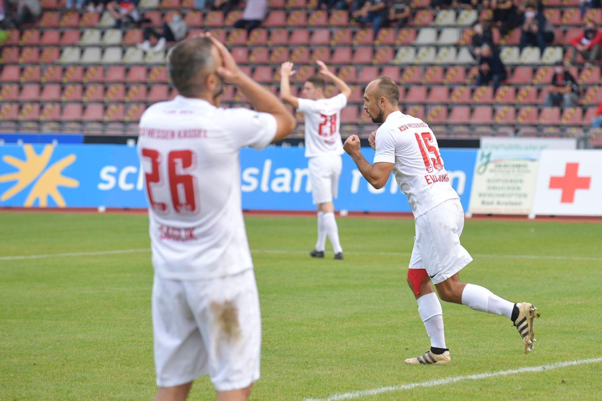 Regionalliga Südwest 2020/21, KSV Hessen Kassel, Rot-Weiss-Koblenz, Endstand 1:1, Saglik, Evljuskin, Iksal