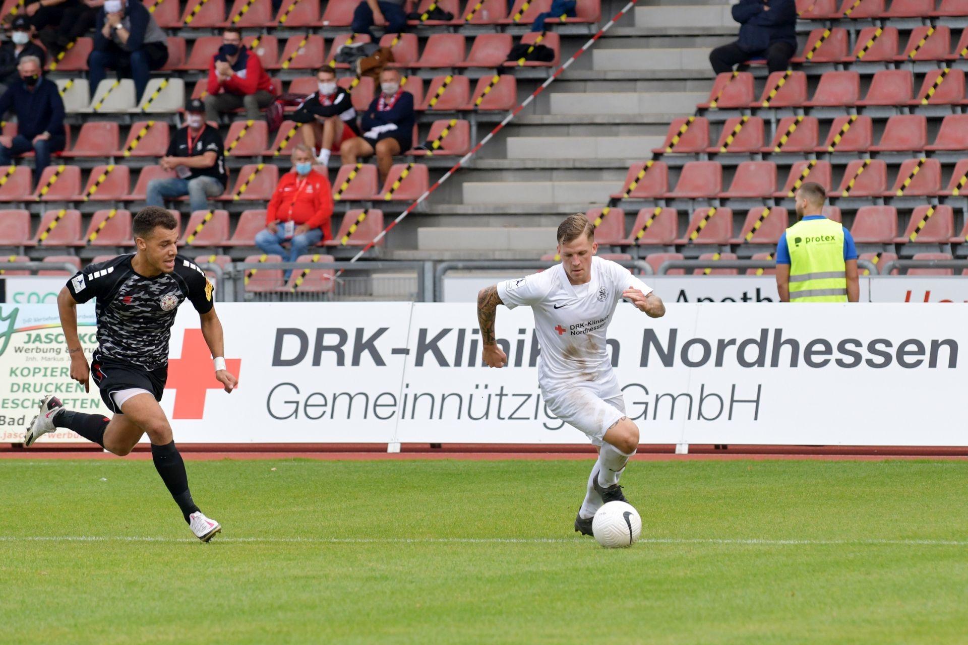 Regionalliga Südwest 2020/21, KSV Hessen Kassel, Rot-Weiss-Koblenz, Endstand 1:1, Brandner