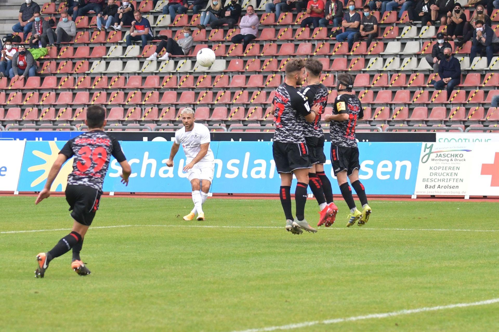 Regionalliga Südwest 2020/21, KSV Hessen Kassel, Rot-Weiss-Koblenz, Endstand 1:1, Meha