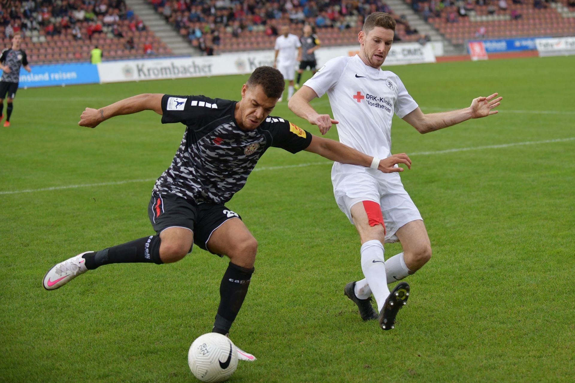 Regionalliga Südwest 2020/21, KSV Hessen Kassel, Rot-Weiss-Koblenz, Endstand 1:1, Lukas Iksal
