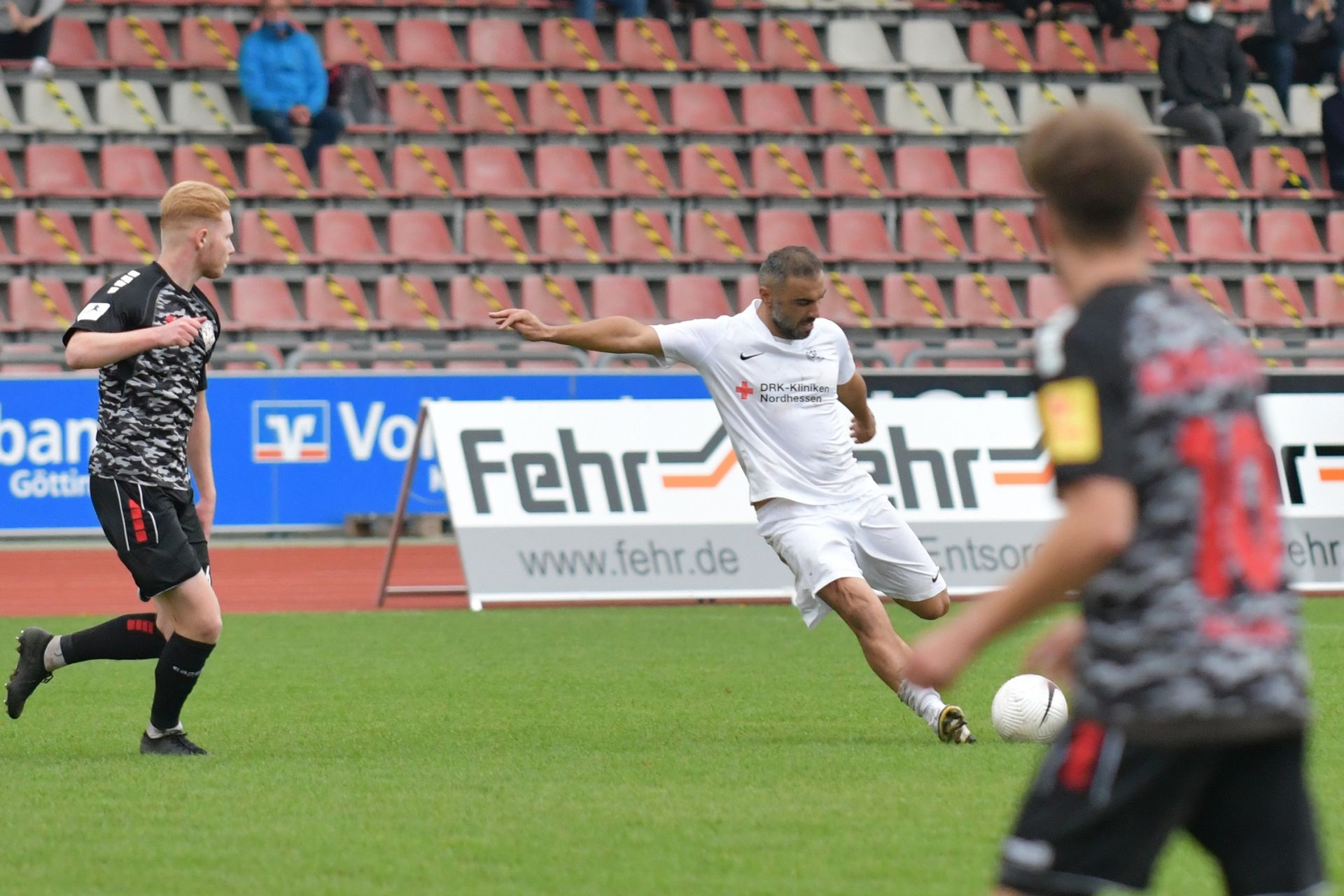 Regionalliga Südwest 2020/21, KSV Hessen Kassel, Rot-Weiss-Koblenz, Endstand 1:1, Mahir Saglik