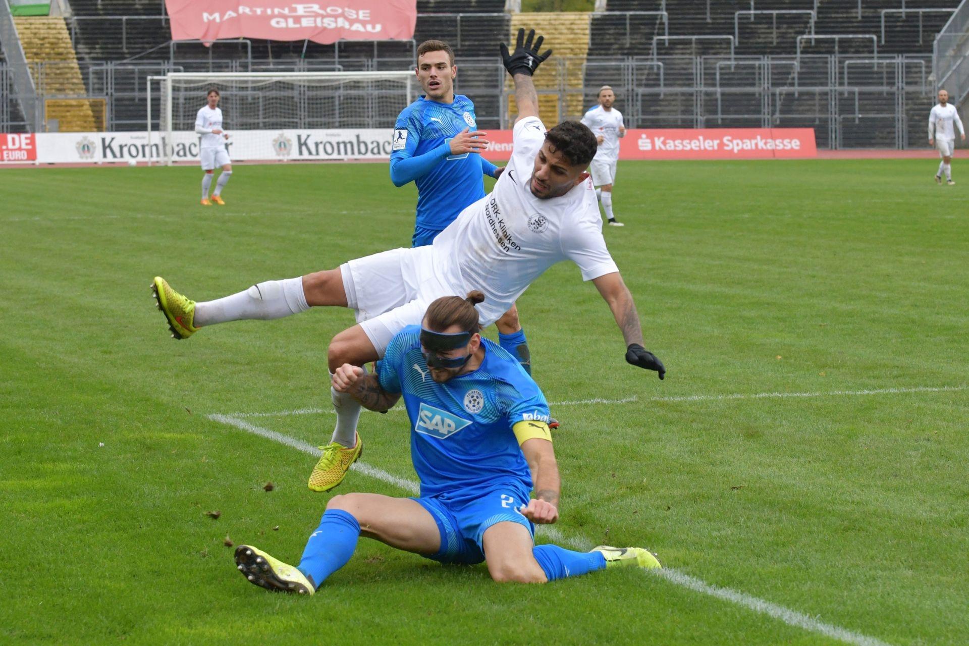 Regionalliga S�dwest 2020/21, KSV Hessen Kassel, FC Astoria Walldorf, Endstand 1:3