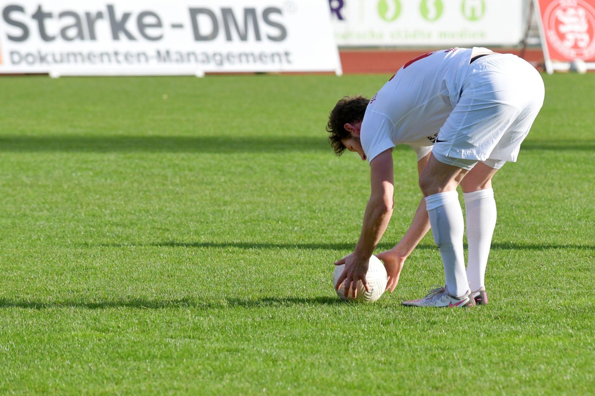 Regionalliga S�dwest 2020/21, KSV Hessen Kassel, 1. FSV Mainz 05 II, Endstand 2:1, Freistoß