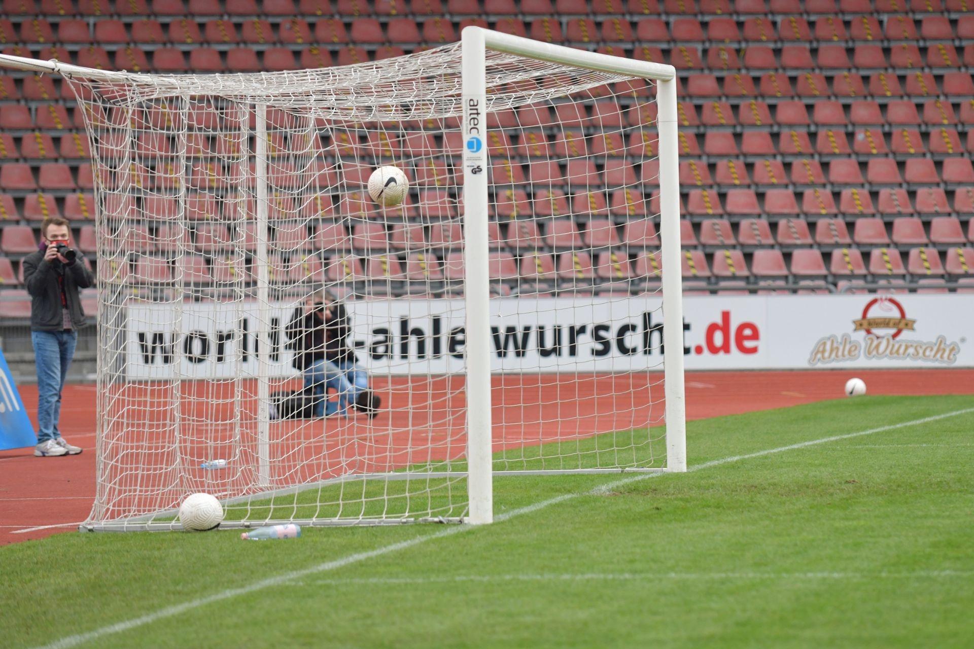Regionalliga S�dwest 2020/21, KSV Hessen Kassel, 1. FSV Mainz 05 II, Endstand 2:1, Tor zum 2:0, Leeres Tor