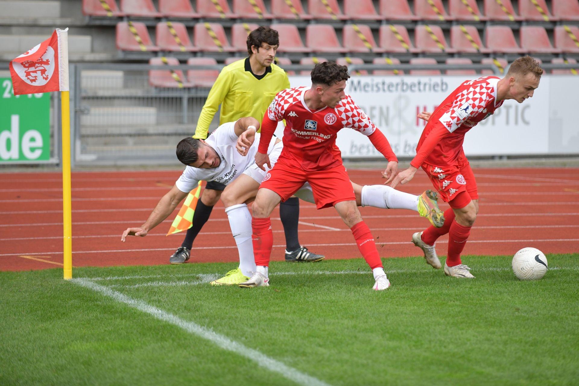 Regionalliga S�dwest 2020/21, KSV Hessen Kassel, 1. FSV Mainz 05 II, Endstand 2:1