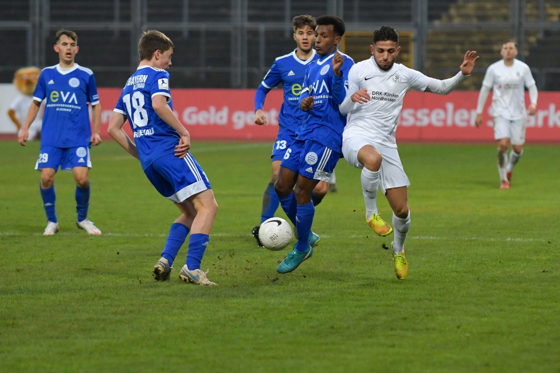 Regionalliga S�dwest 2020/21, KSV Hessen Kassel, FC Bayern Alzenau, Endstand 3:0
