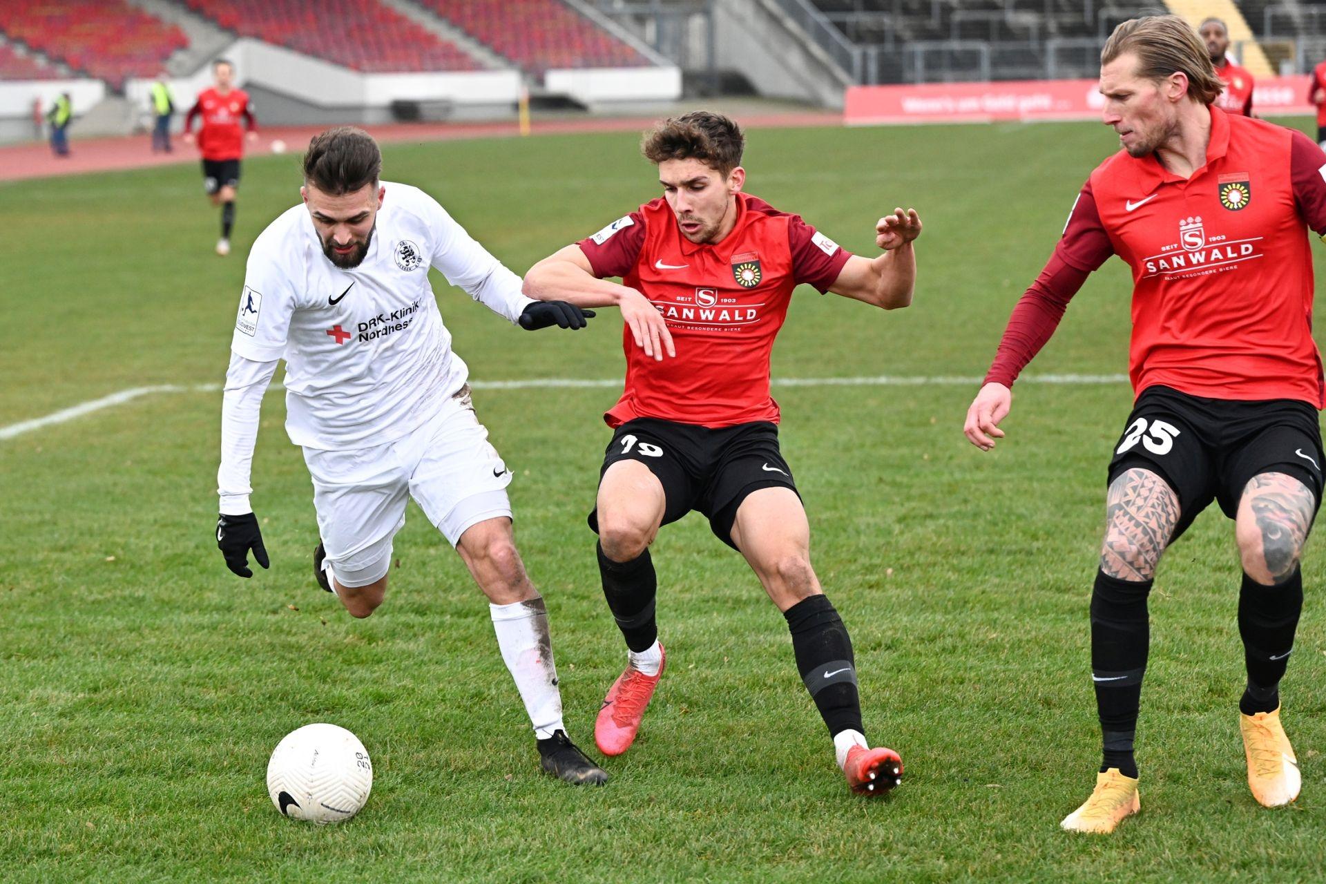 Regionalliga S�dwest 2020/21, KSV Hessen Kassel, SG Sonnenhof Grossaspach, Endstand 0:2