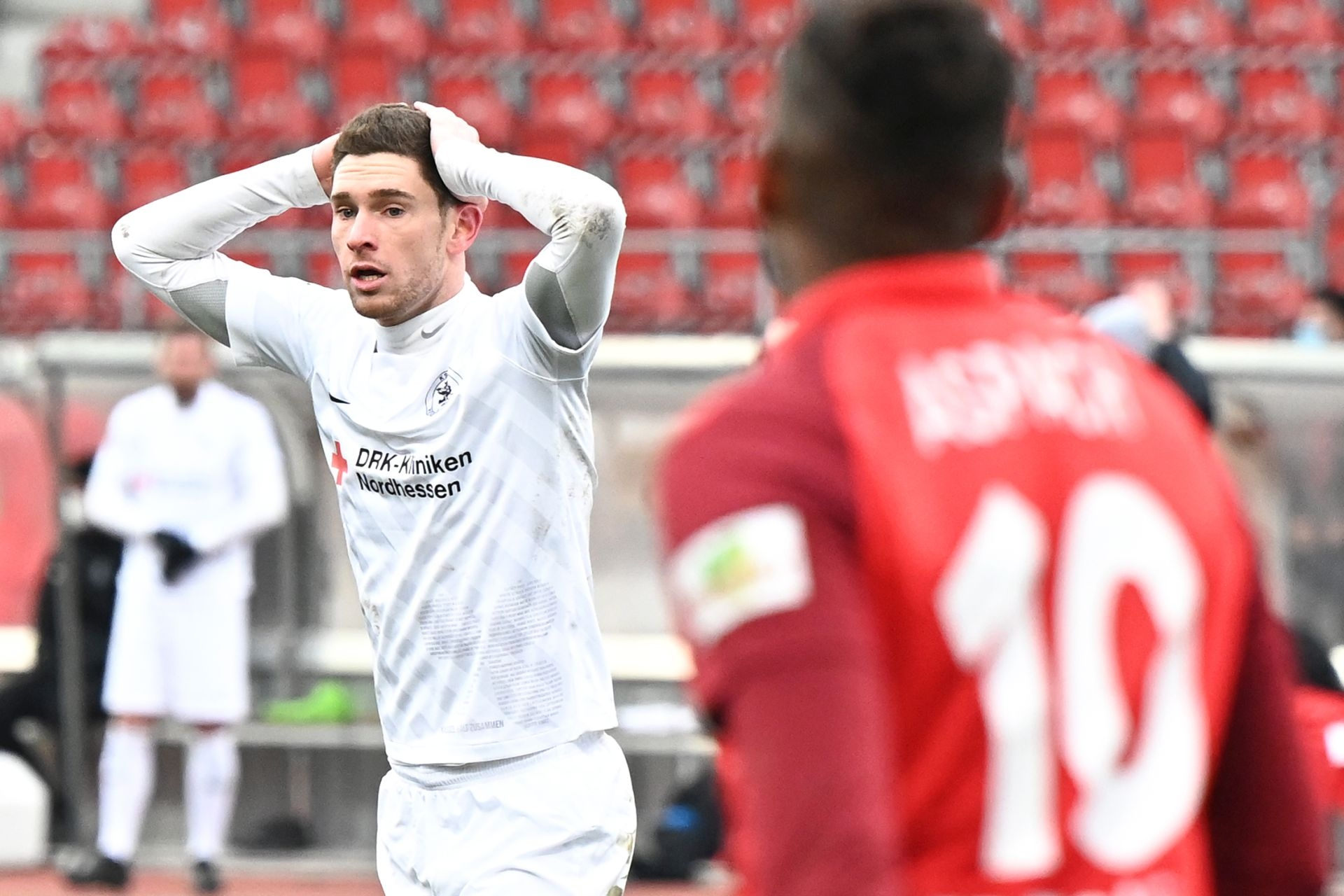 Regionalliga S�dwest 2020/21, KSV Hessen Kassel, SG Sonnenhof Grossaspach, Endstand 0:2, Lukas Iksal