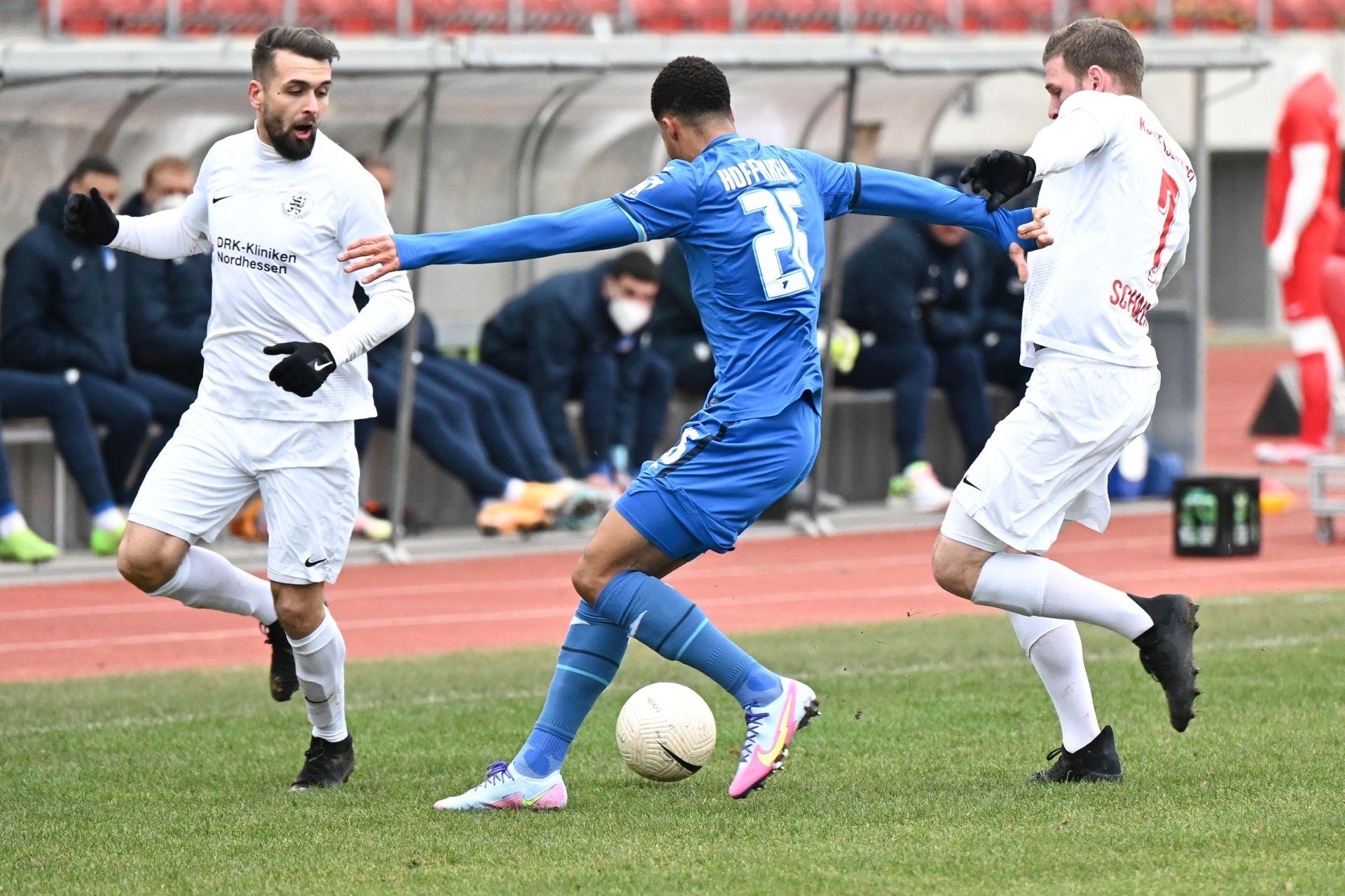 Regionalliga S�dwest 2020/21, KSV Hessen Kassel, TSG Hoffenheim II, Endstand 2:2