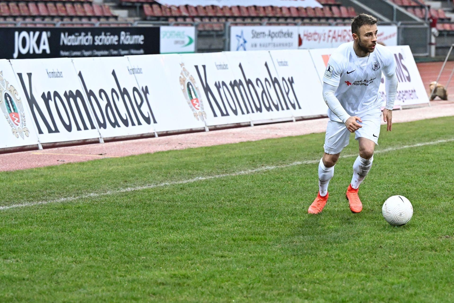 Regionalliga Südwest 2020/21, KSVHessen Kassel, TSV Steinbach Haiger, Endstand 2:1, Alban Meha