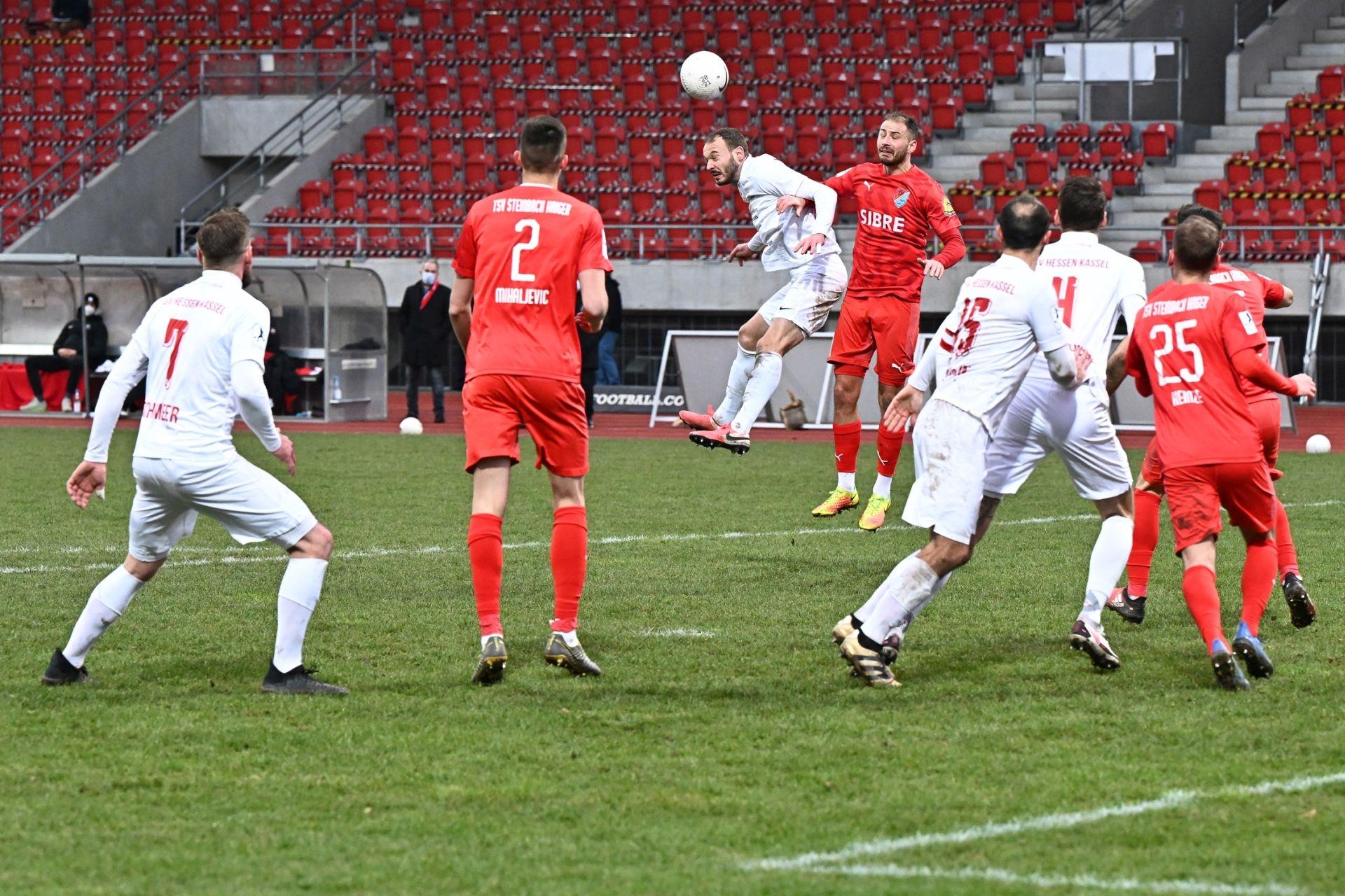 Regionalliga Südwest 2020/21, KSVHessen Kassel, TSV Steinbach Haiger, Endstand 2:1, Robin Urban