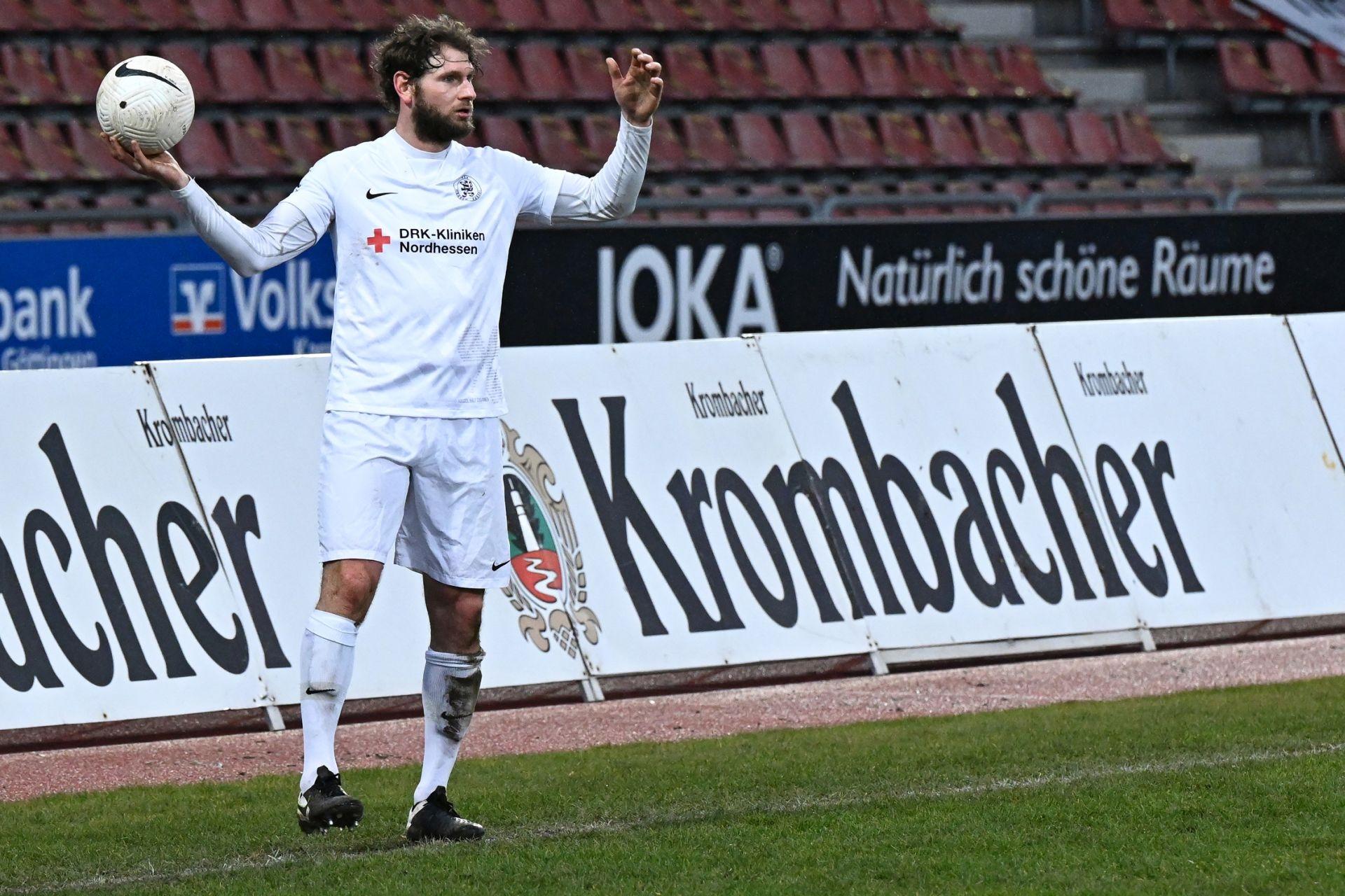 Regionalliga Südwest 2020/21, KSVHessen Kassel, TSV Steinbach Haiger, Endstand 2:1, Ingmar Merle, Krombacher, Joka, Volksbank