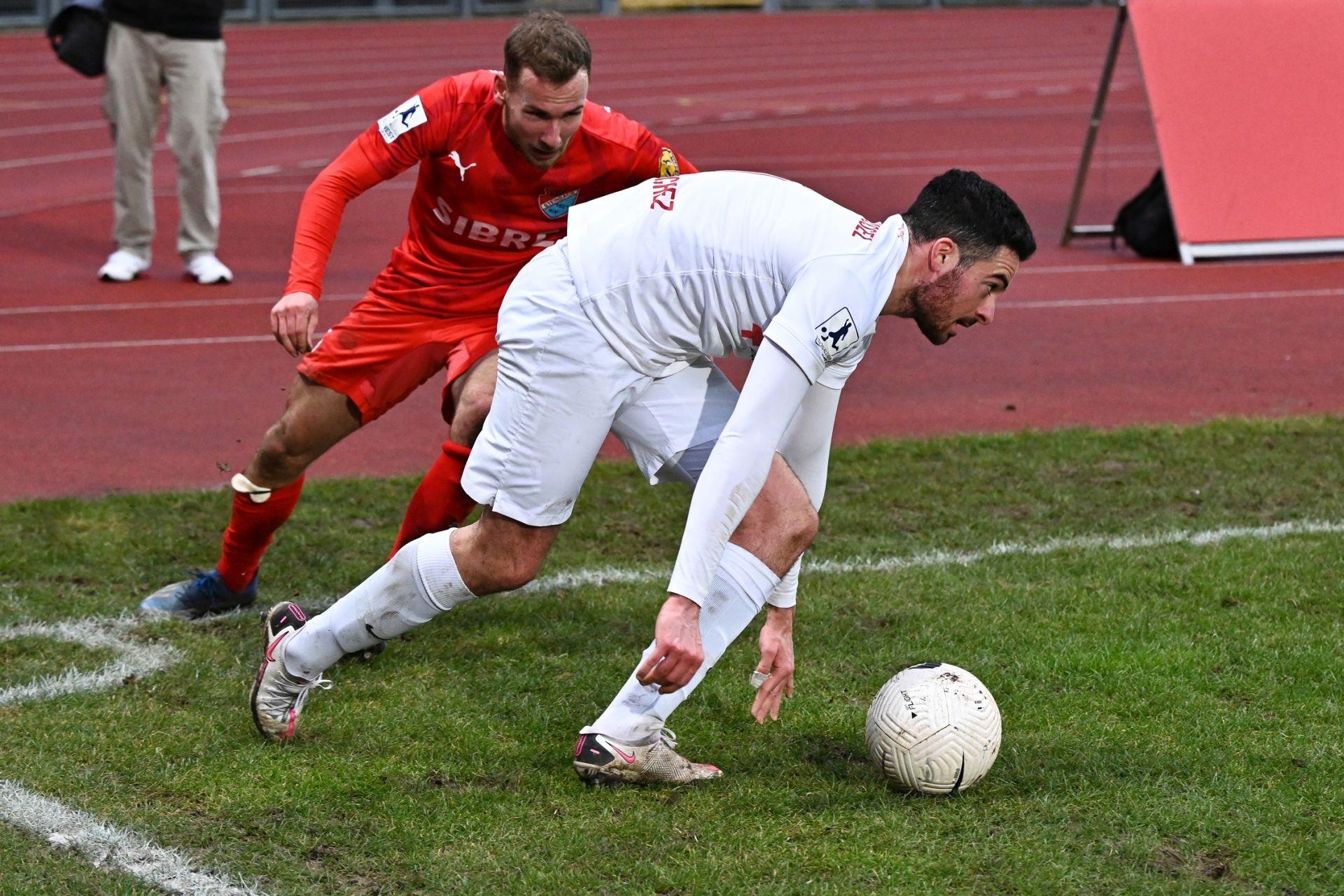 Regionalliga Südwest 2020/21, KSVHessen Kassel, TSV Steinbach Haiger, Endstand 2:1, Adrian Bravo Sanchez