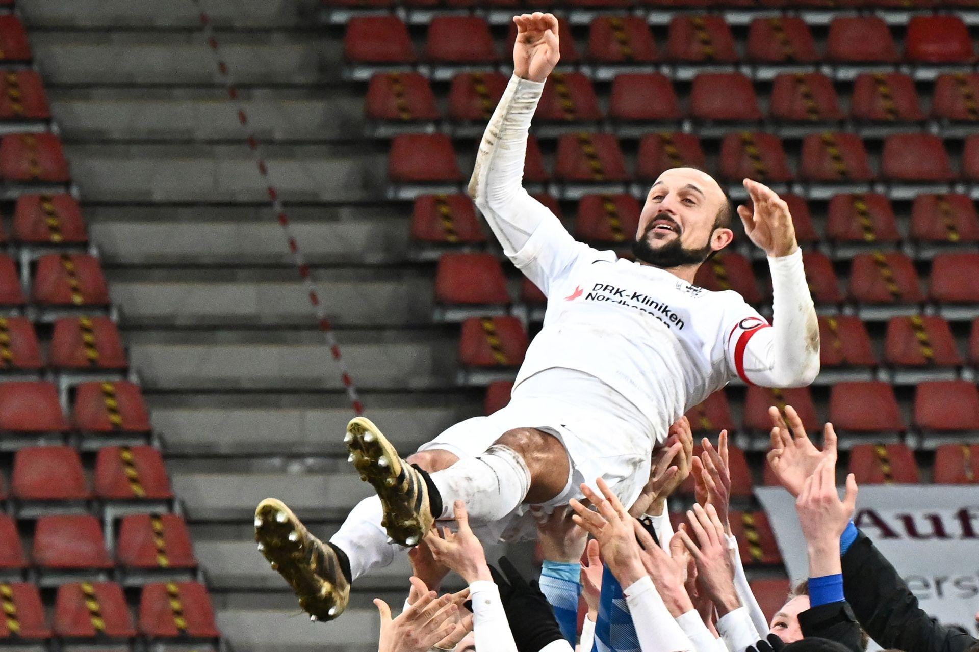 Regionalliga Südwest 2020/21, KSVHessen Kassel, TSV Steinbach Haiger, Endstand 2:1, Sergej Evljuskin