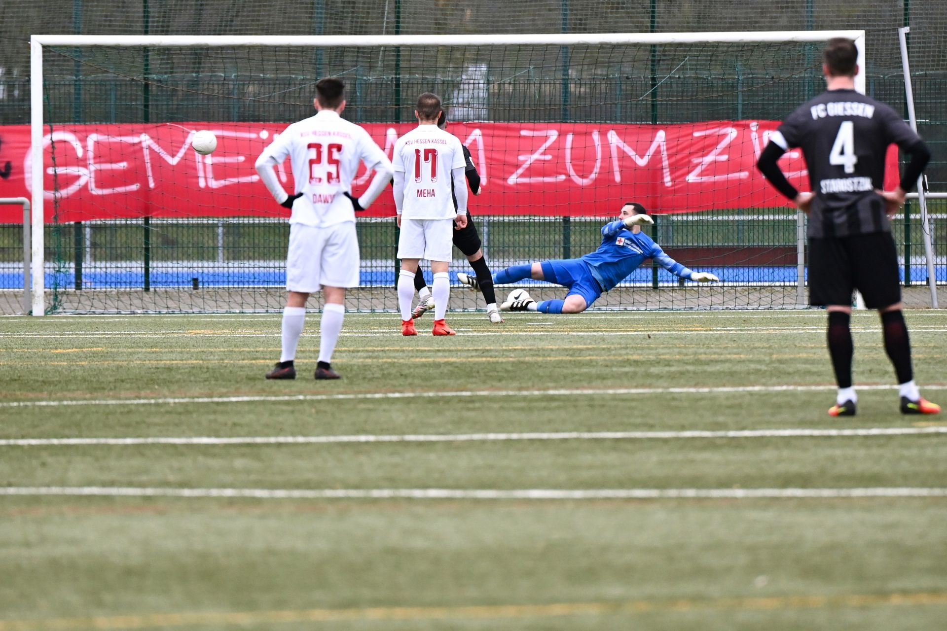 Regionalliga Südwest 2020/21, KSVHessen Kassel, FC Gießen, Endstand 1:1, Tor zum 0:1