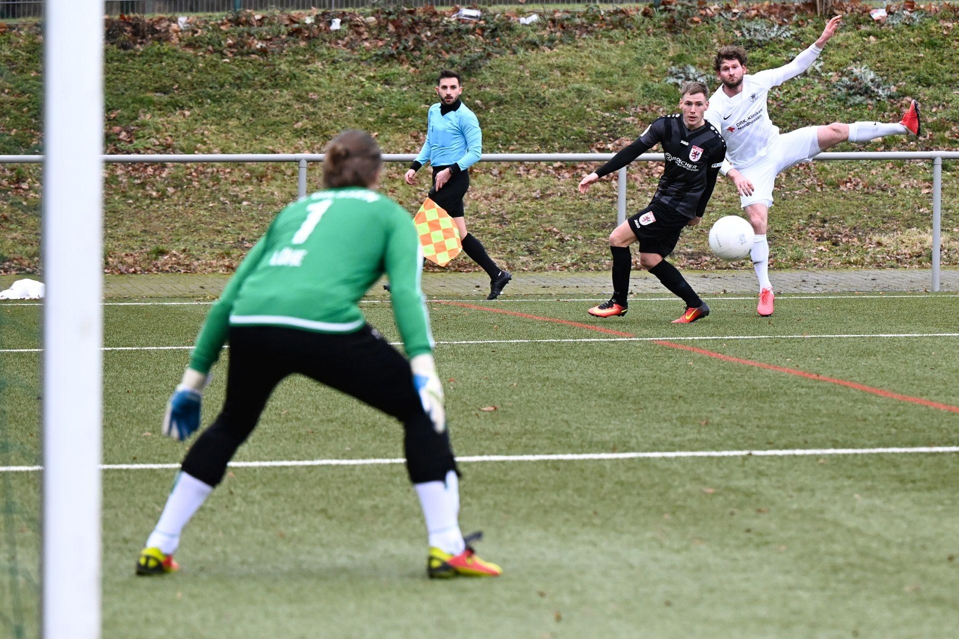 Regionalliga Südwest 2020/21, KSVHessen Kassel, FC Gießen, Endstand 1:1, Ingmar Merle