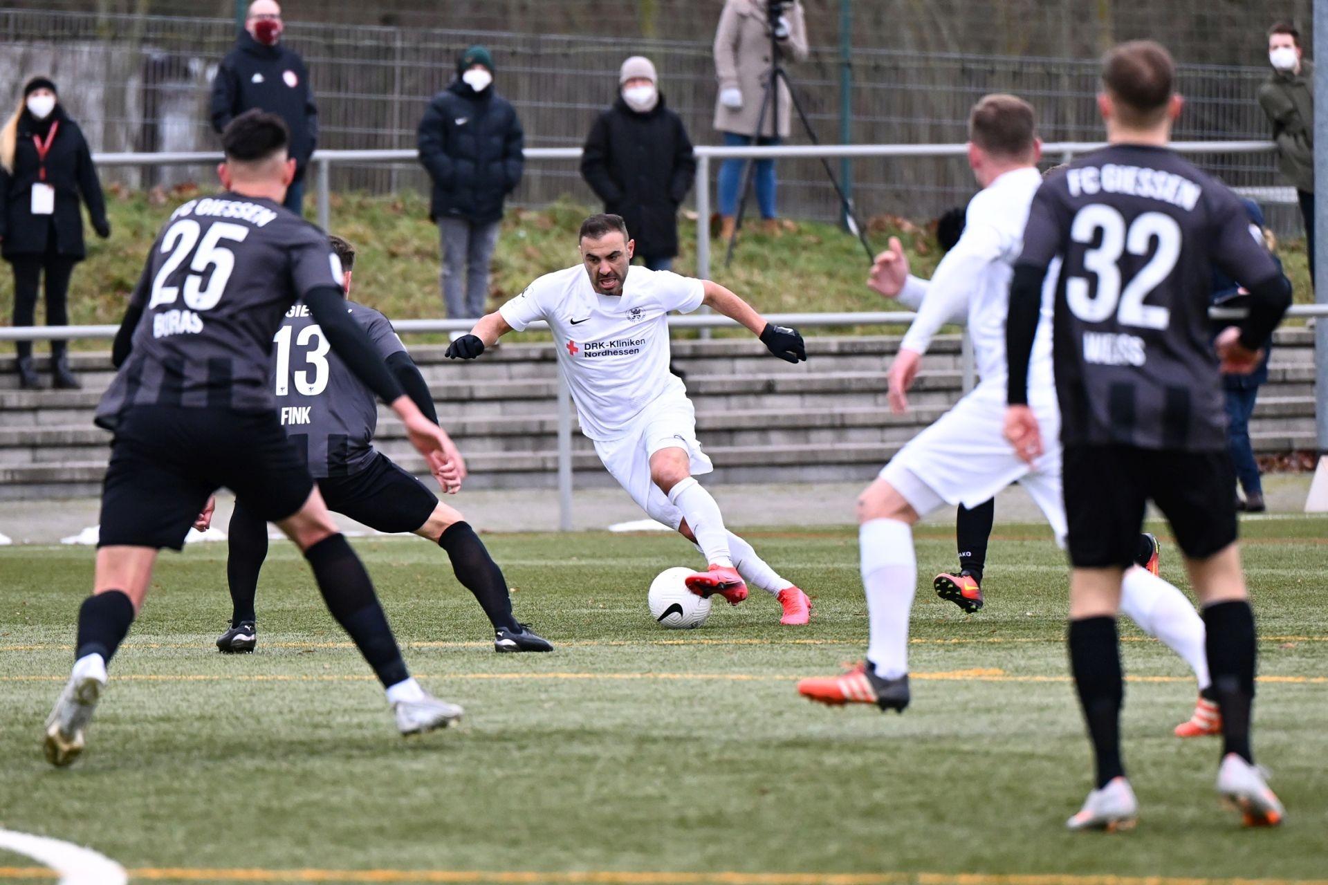 Regionalliga Südwest 2020/21, KSVHessen Kassel, FC Gießen, Endstand 1:1, Mahir Saglik
