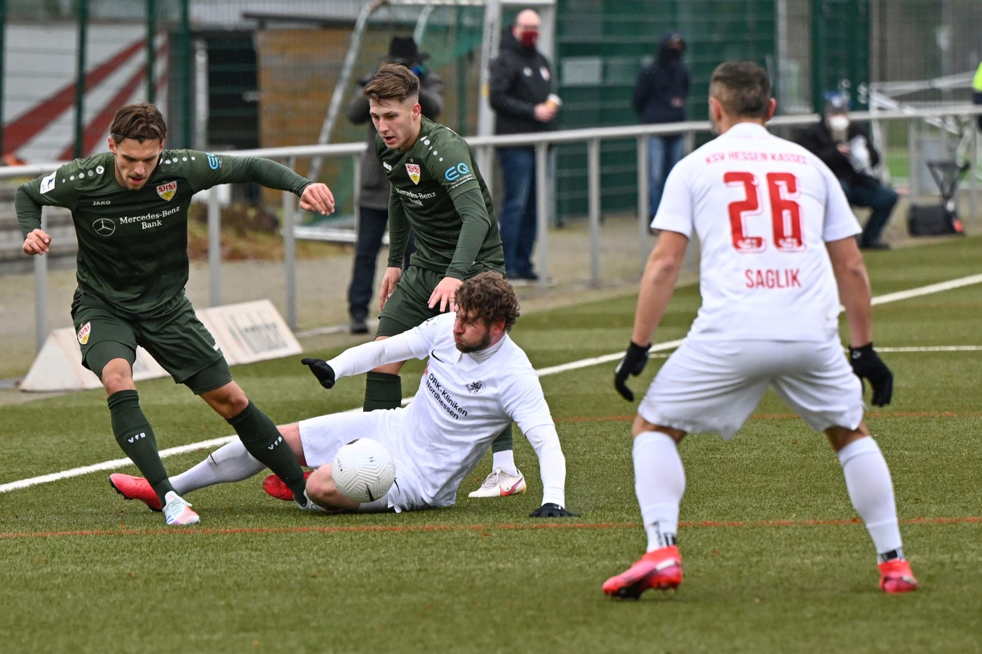 Regionalliga Südwest 2020/21, KSV Hessen Kassel, VfB Stuttgart II, Endstand 0:4, Merle, Saglik