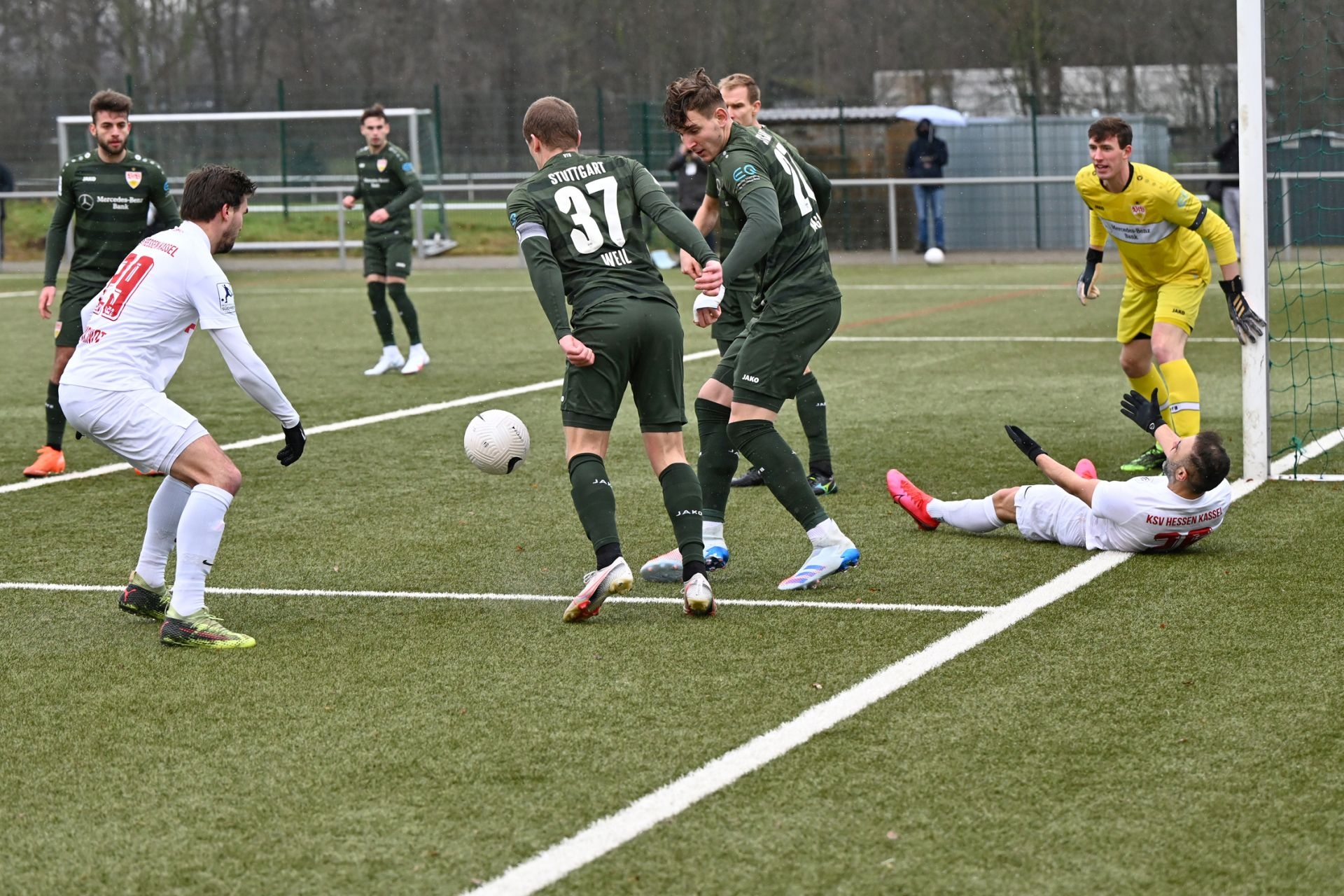 Regionalliga Südwest 2020/21, KSV Hessen Kassel, VfB Stuttgart II, Endstand 0:4, Nils Pichinot