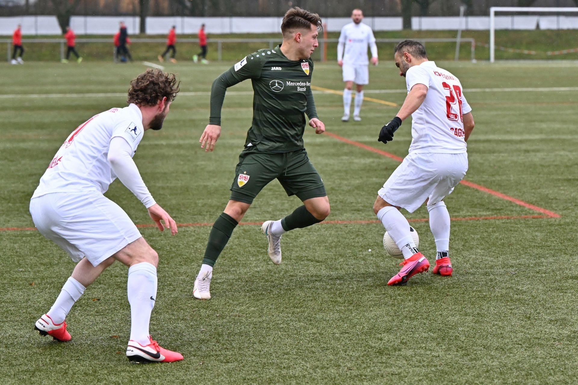 Regionalliga Südwest 2020/21, KSV Hessen Kassel, VfB Stuttgart II, Endstand 0:4, Ingmar Merle