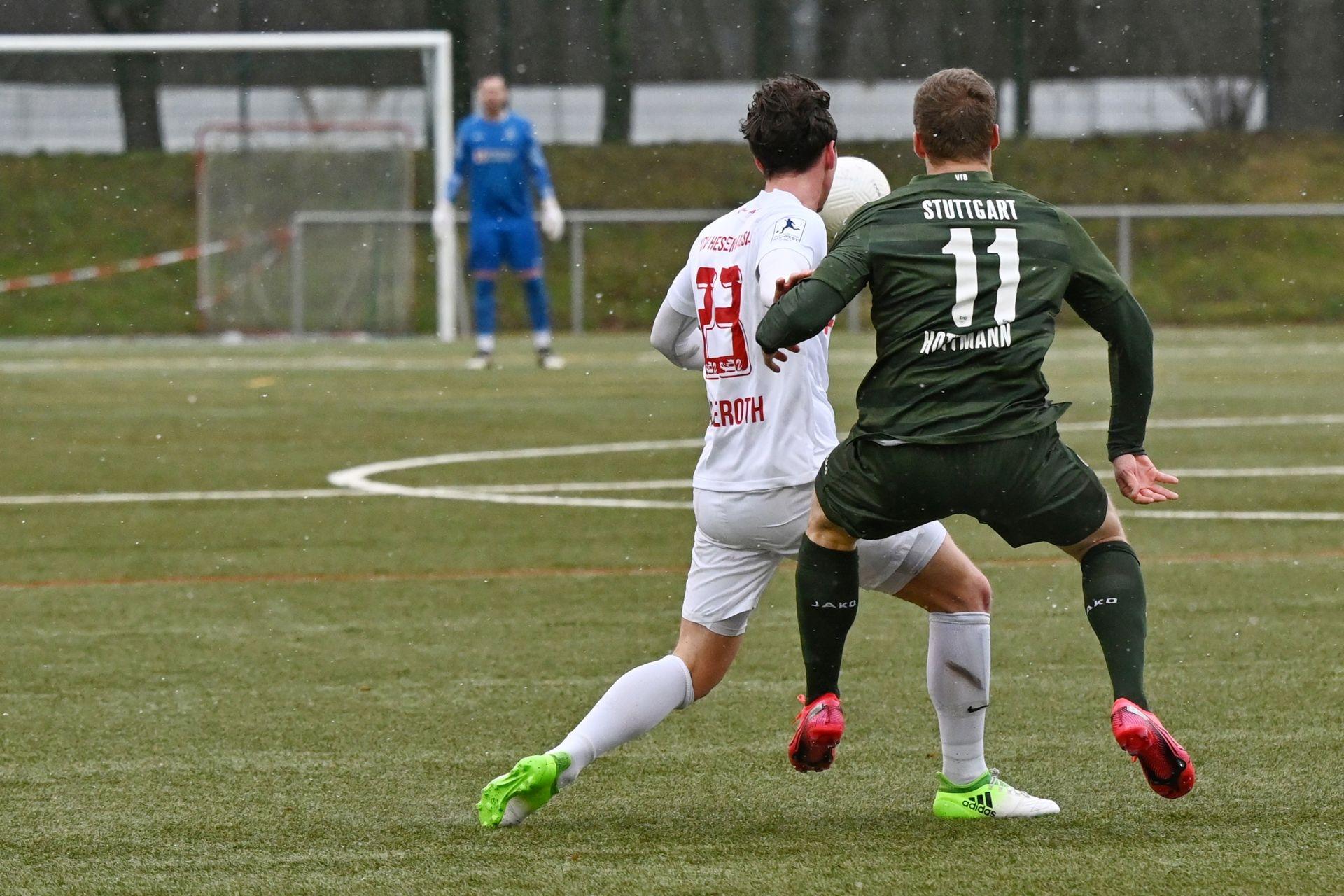 Regionalliga Südwest 2020/21, KSV Hessen Kassel, VfB Stuttgart II, Endstand 0:4, Luis Allmeroth