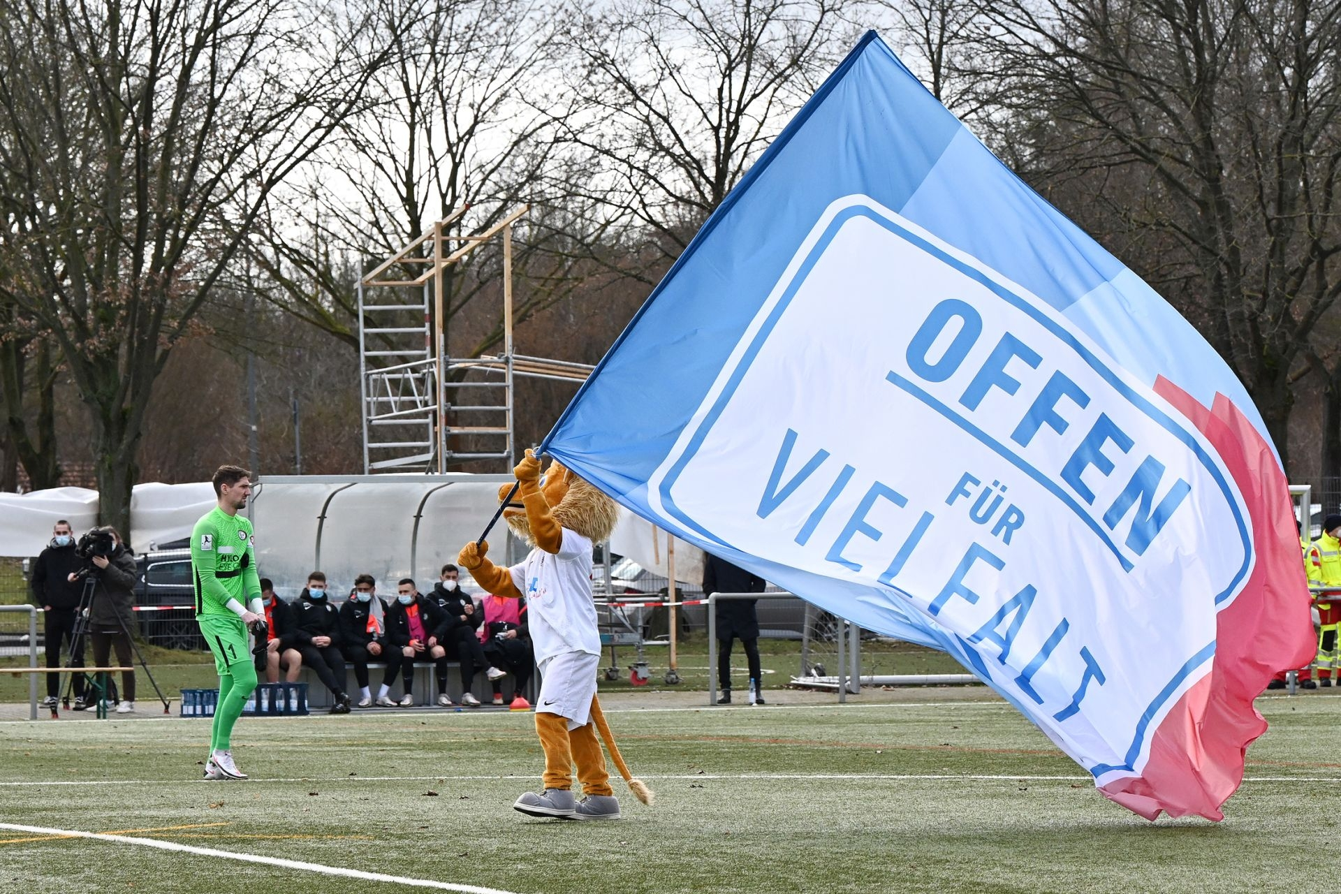 Regionalliga Südwest 2020/21, KSV Hessen Kassel, SV Elversberg, Endstand 0:2, Totti, Offen für Vielfalt, WeDriveDiversity