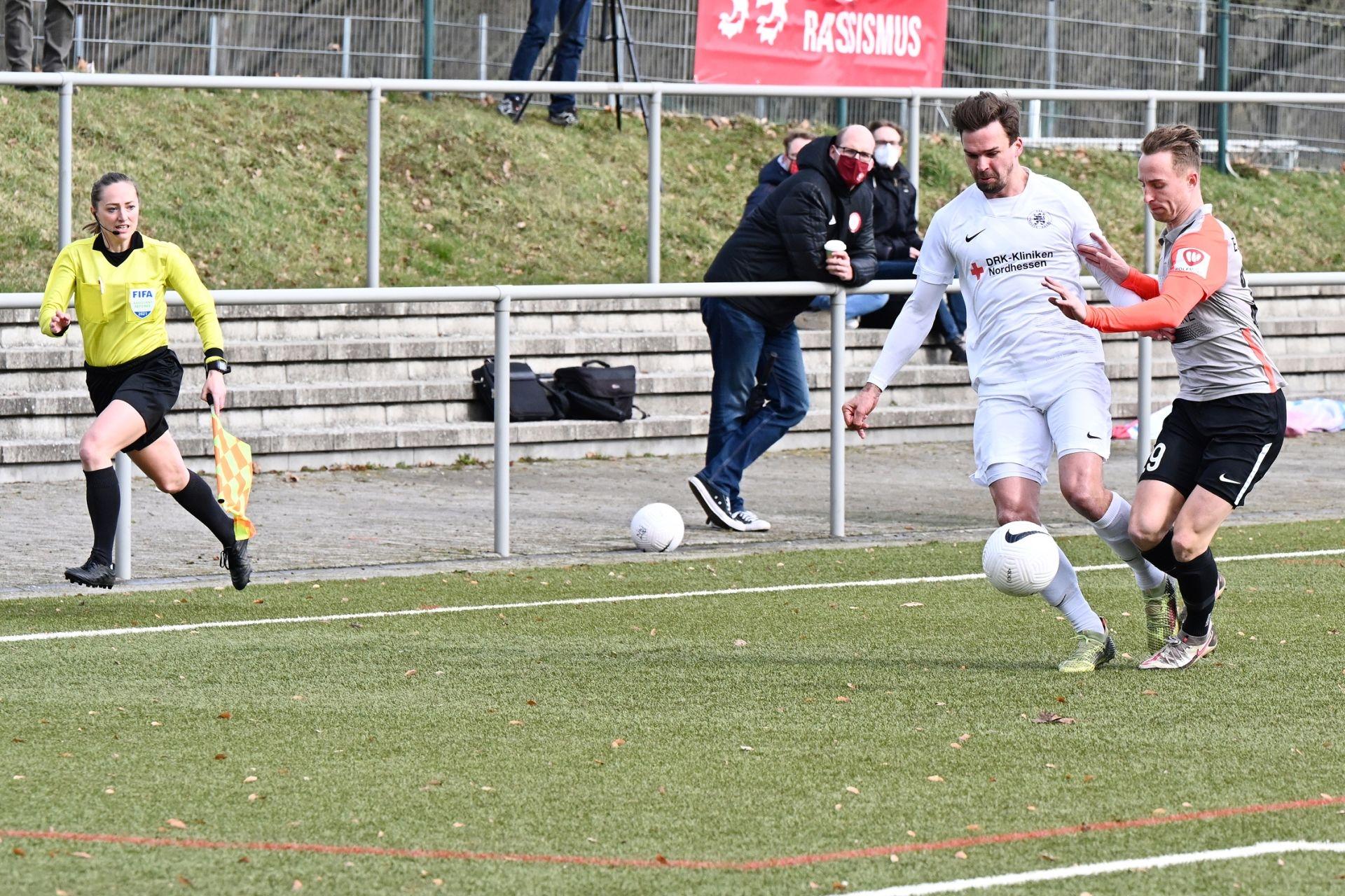 Regionalliga Südwest 2020/21, KSV Hessen Kassel, SV Elversberg, Endstand 0:2, Pichinot