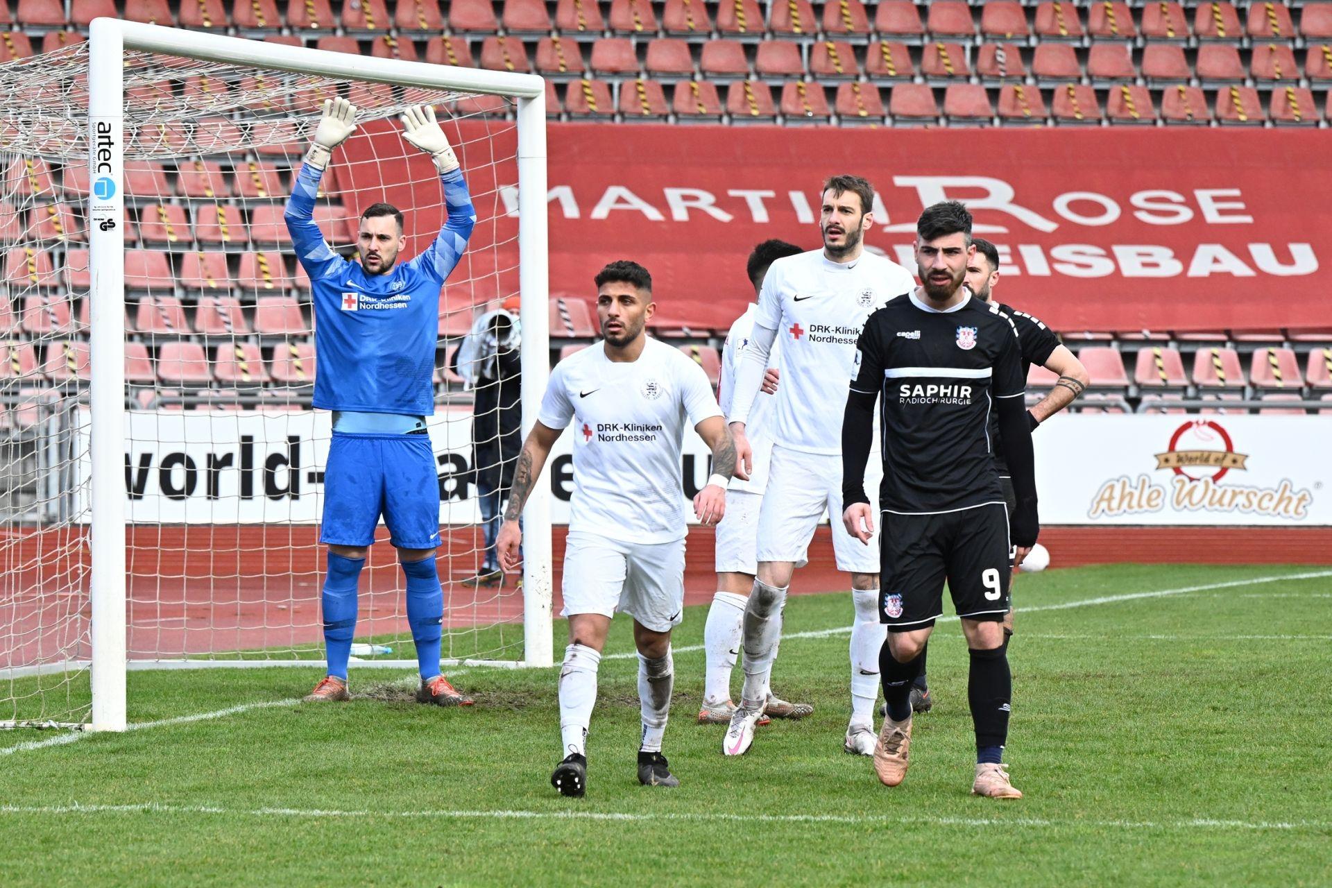 Regionalliga Südwest 2020/21, KSV Hessen Kassel, FSV Frankfurt, Endstand 2:1, Eckball