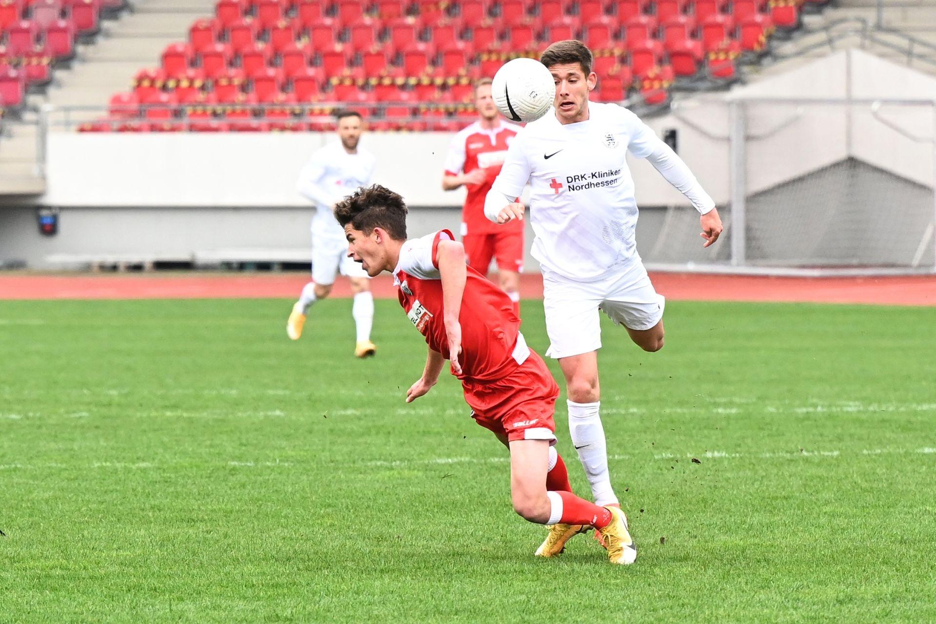 Regionalliga Südwest 2020/21, KSV Hessen Kassel, VfR Aalen, Endstand 1:1, Serkan Durna