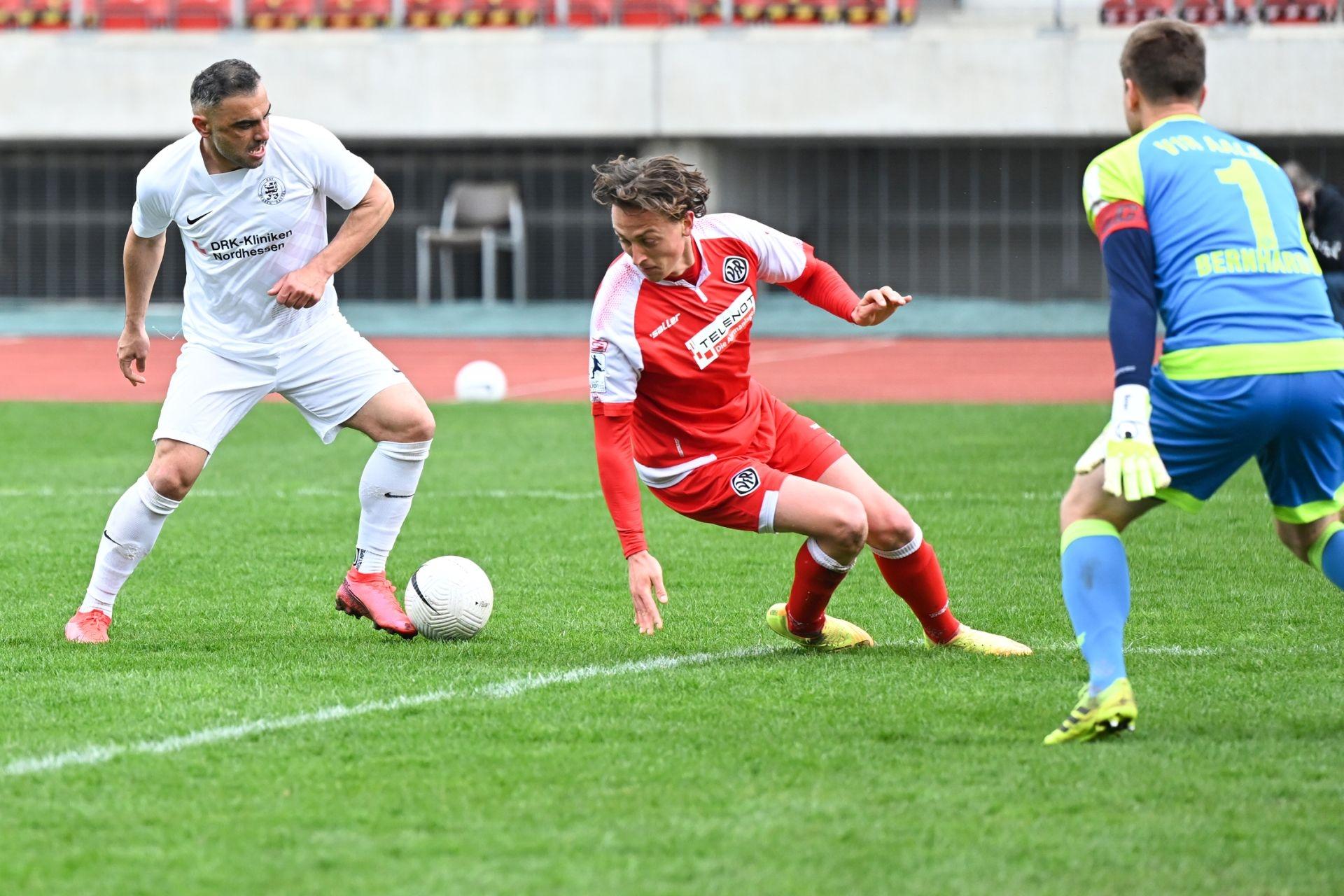 Regionalliga Südwest 2020/21, KSV Hessen Kassel, VfR Aalen, Endstand 1:1, Mahir Saglik