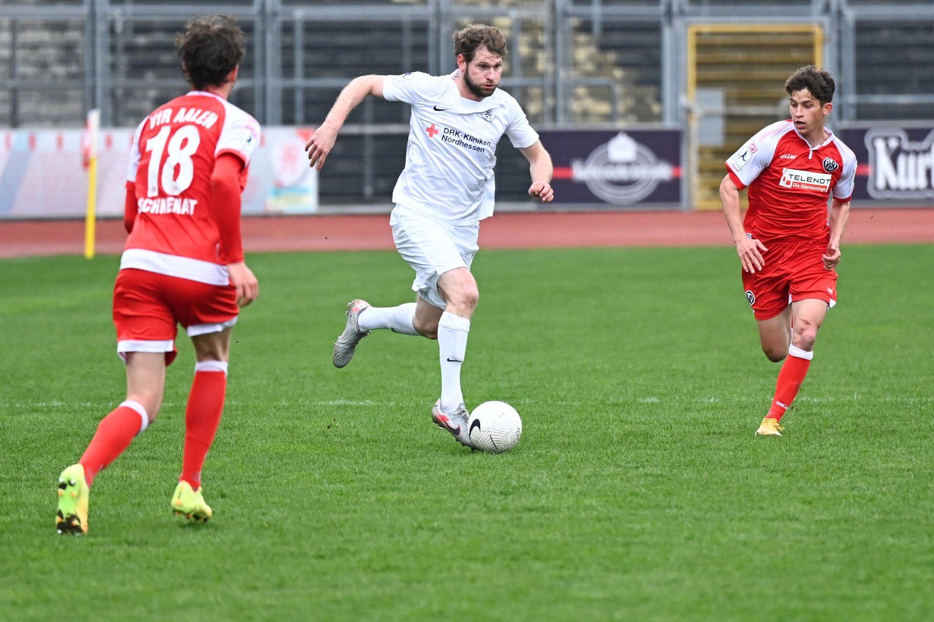 Regionalliga S�dwest 2020/21, KSV Hessen Kassel, VfR Aalen, Endstand 1:1