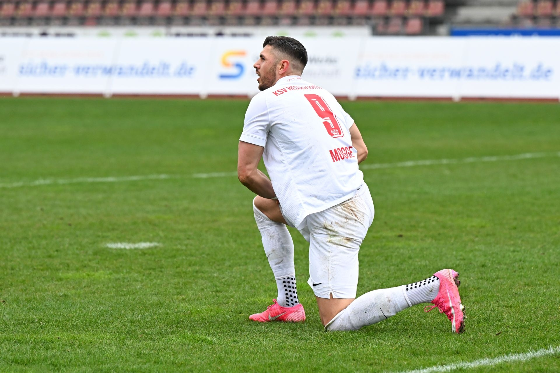 Regionalliga Südwest 2020/21, KSV Hessen Kassel, VfR Aalen, Endstand 1:1, Mogge