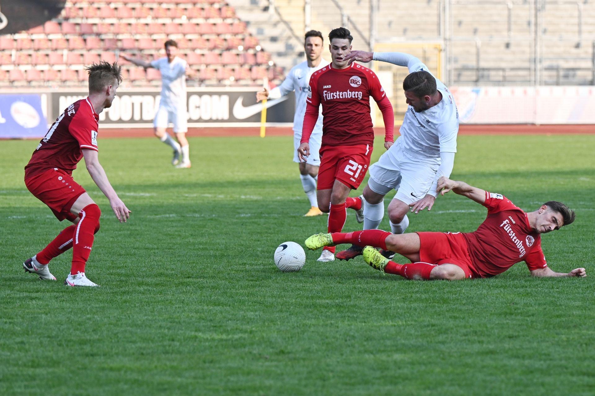 Regionalliga S�dwest 2020/21, KSV Hessen Kassel, Bahlinger SC, Endstand 1:1