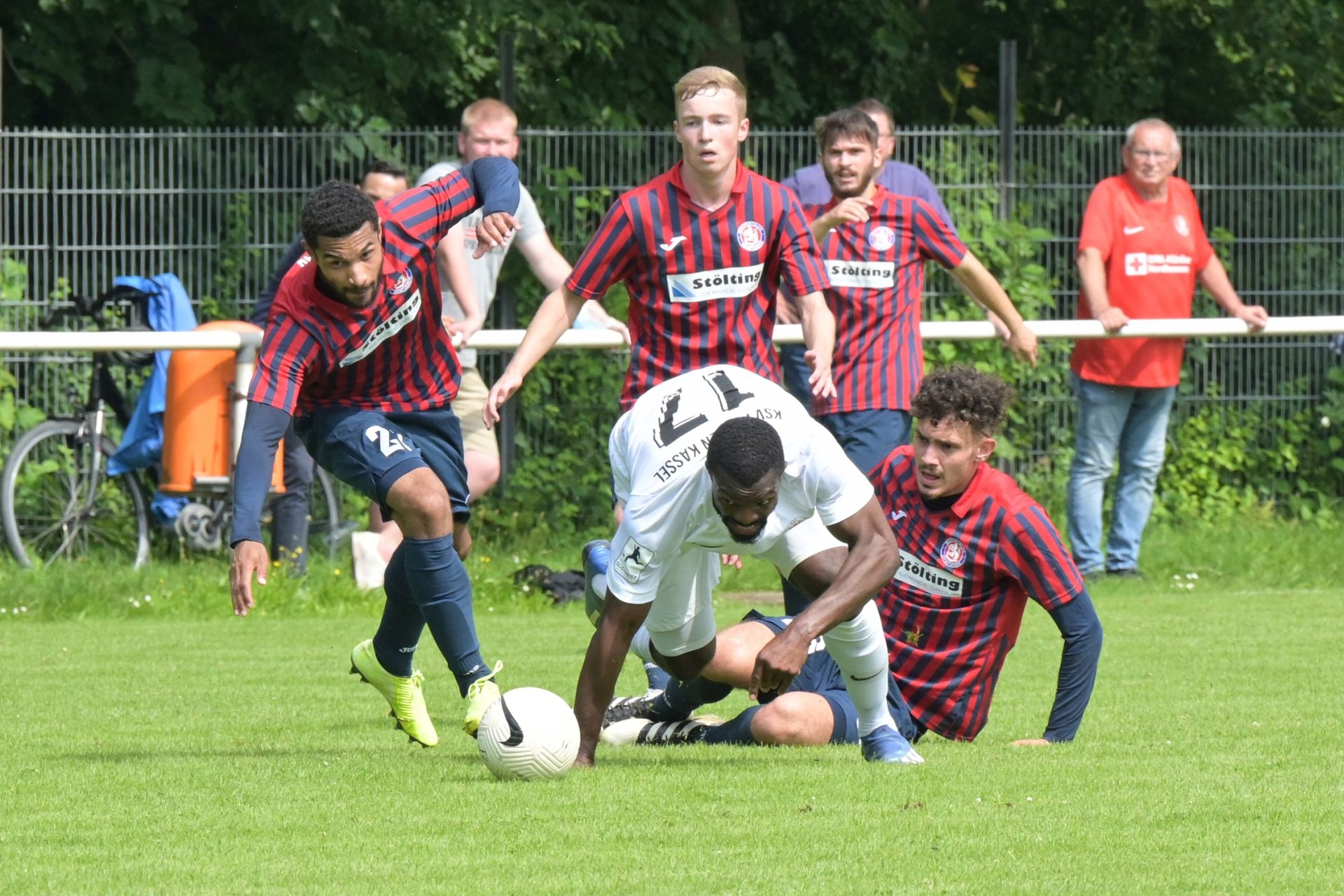 KSV Hessen Kassel, Wuppertaler SV, Endstand 4:0, Conrad Azong