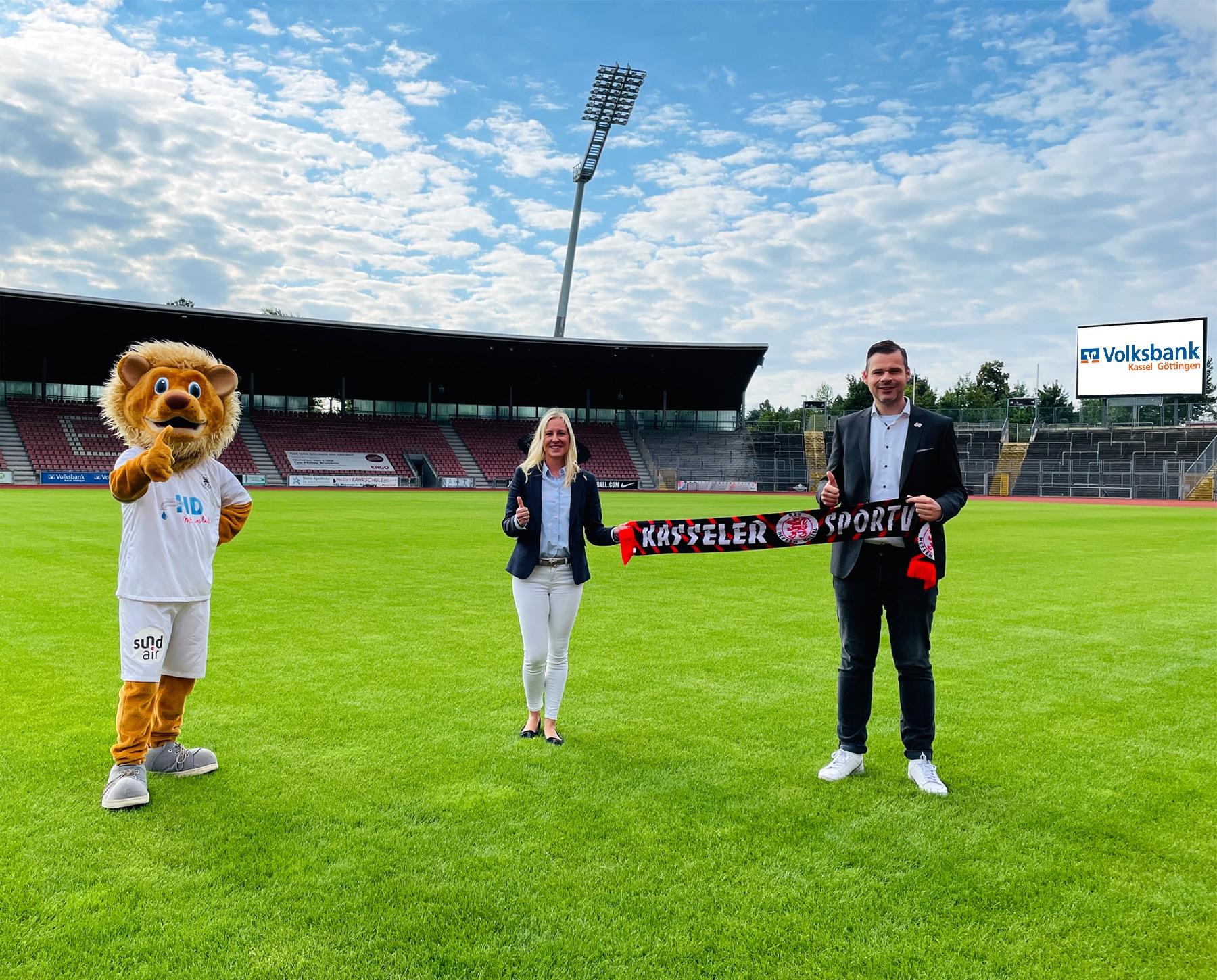 Die Volksbank Kassel Göttingen verlängert Partnerschaft mit den Löwen