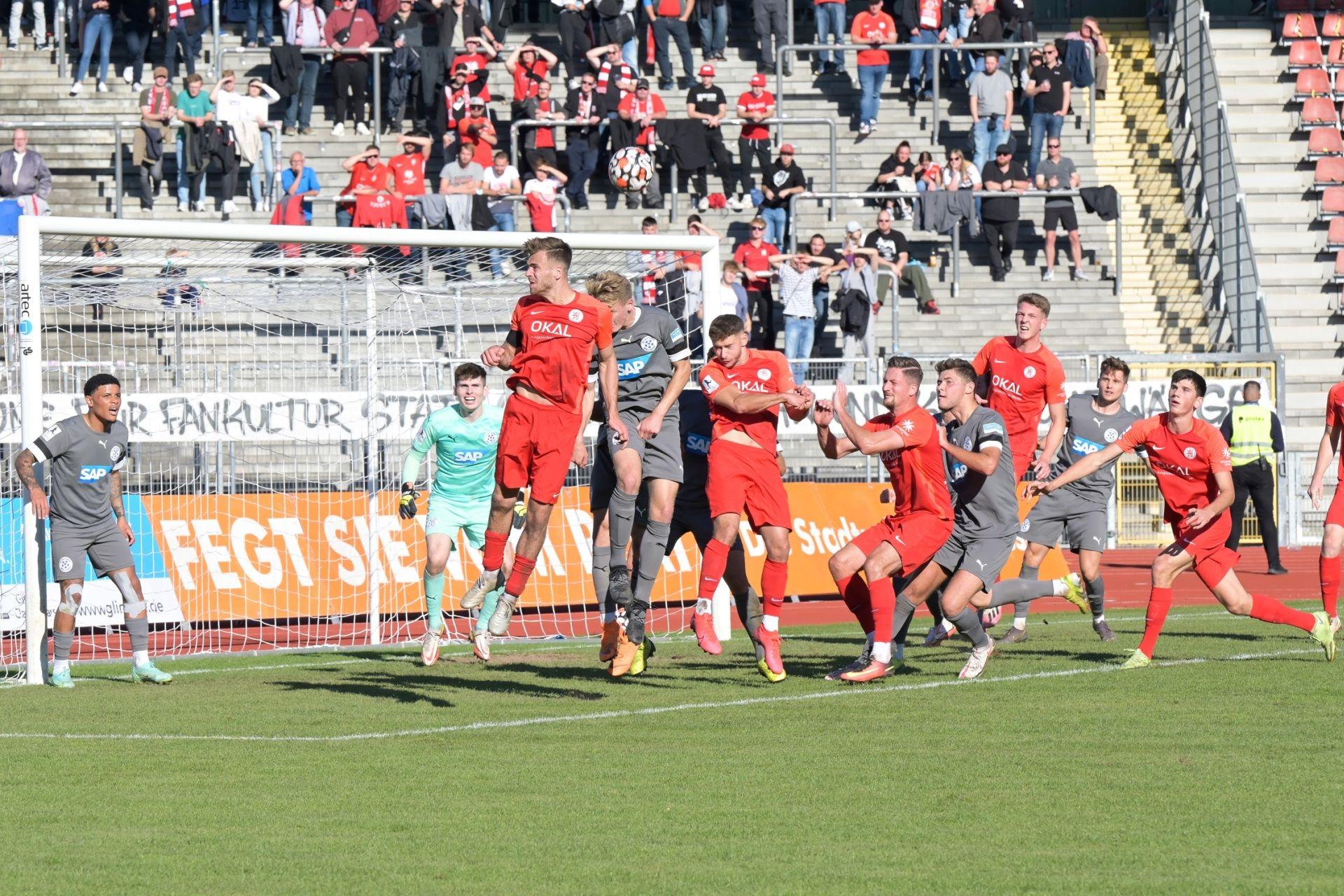 Regionalliga S�dwest, Saison 2021/22, KSV Hessen Kassel, FC Astoria Walldorf, Endsatnd 0:2